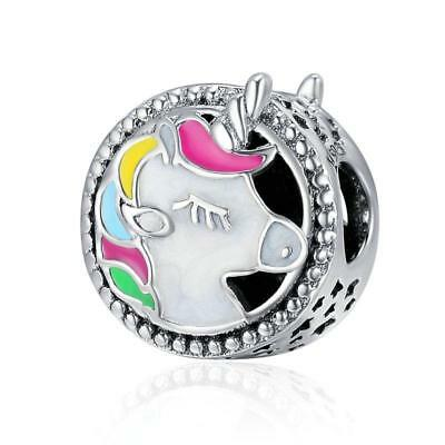 Unicorn Charm Magical Horse Bead Genuine Sterling Silver 925 Mum Wife Daughter