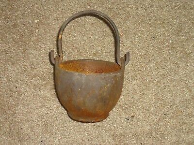 Rare Gauranteed Authentic Civil War Cast Iron Melting Pot