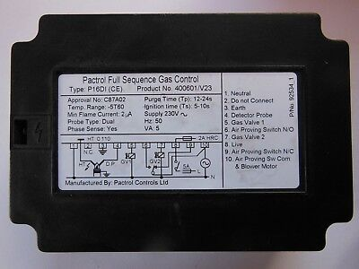 Pactrol P16Di 400601/v23 Full Sequence Controller