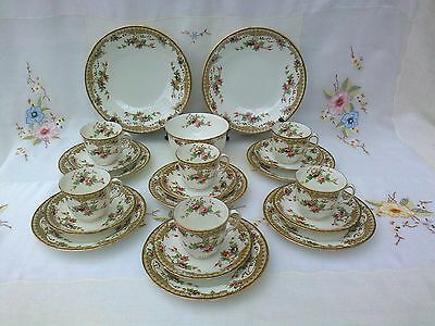 "Antique Vintage Fenton Bone China ""syria"" Tea Service  21 Pieces"