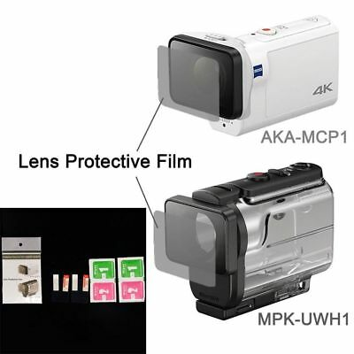Clear Lens Protector Film For AKA-MCP1 MPK-UWH1 For sony action cam HDR-AS300r A