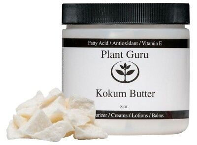 Raw Kokum Butter 8 oz. 100% Pure Natural Organic Cold Pressed