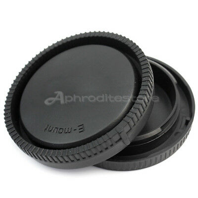 Durable Plastic Rear Lens Cap Camera Front Body Cover Hood Set for Sony E-Mount