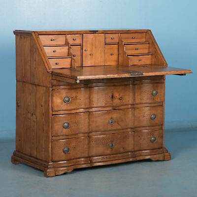 Antique Danish Baroque Drop Front Bureau