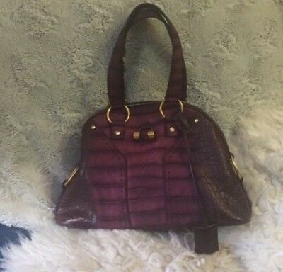 cfc73f2f4b BEAUTIFUL YSL - YVES SAINT LAURENT - Purple Muse Bag - VERY RARE! Leather  Croco - $399.00 | PicClick