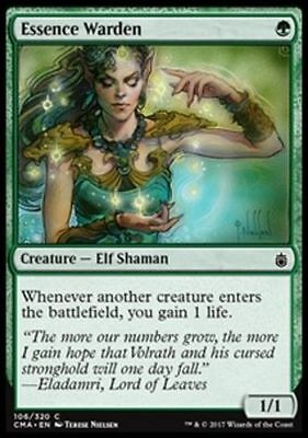 1x ESSENCE WARDEN - Rare - Planar Chaos/commander MTG - NM - Magic the Gathering