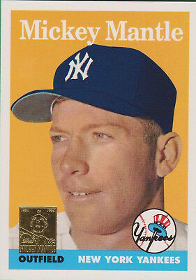 1958 Mickey Mantle Topps Reprint Baseball Card 150 New York