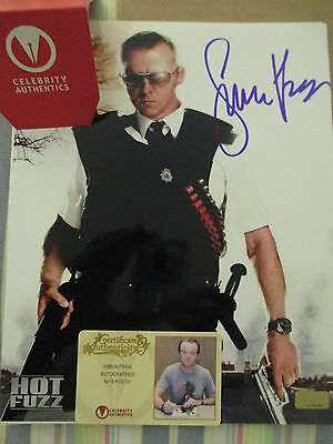 Simon Pegg Auto 8×10 Hot Fuzz Celebrity Authentic COA