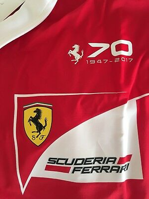 Polo Ferrari F1 2017 * 70Th Anniversary Size L Not For Sale * Vettel-Raikkonen