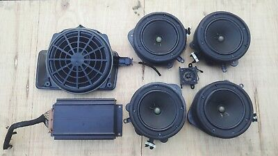 audi a4 b6 bose sound system speakers amplifier sub woofer. Black Bedroom Furniture Sets. Home Design Ideas