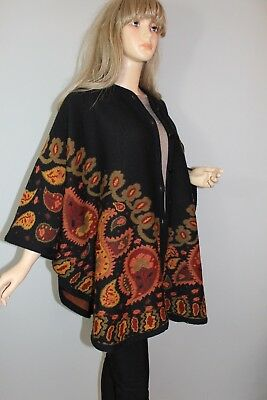 80er 80s Vintage true VTG Oversize Strick CAPE CARDIGAN Weste Wolle KNIT wool