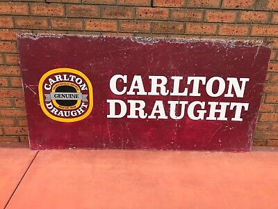 Old Carlton Draught Beer Tin Sign.