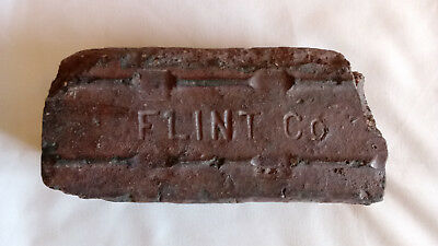Antique Late 1800's Early 1900's Paver Block Brick Flint Co. Michigan Rare Old