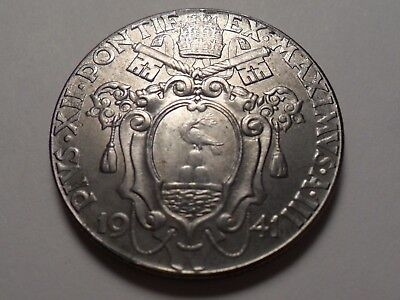 1941/iii  Beautiful Vatican City Stainless Steel 2 Lire Very Rare 270,000 Made!!