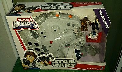 Millennium Falcon and Figures, Star Wars Galactic Heroes Brand New, MIB Unopened