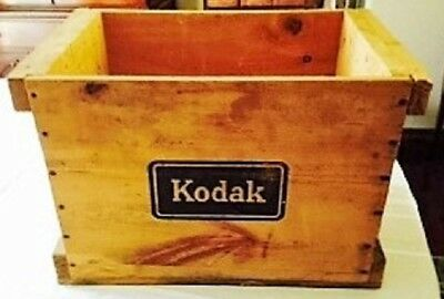 Kodak Wooden Shipping Crate w/Top, Marked Sept 1954, Photograpphy, Detroit
