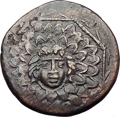 AMISOS in PONTUS 105BC Mithradates VI the Great - Gorgon Nike Greek Coin i30066