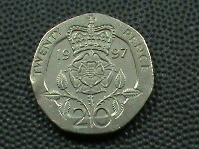 GREAT  BRITAIN   20 Pence  1997    $ 2.99 maximum shipping in USA