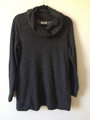 Preowned Lou & Grey Maternity Sweatshirt With Pockets And Cowl Neck Sz Medium