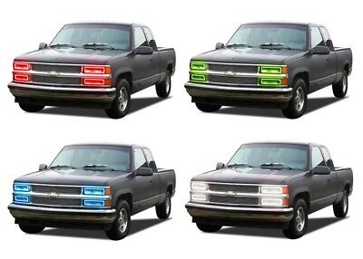 LED Headlight Halo Ring RGB Multi-Color Kit for Chevrolet C1500 88-98