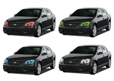 LED Headlight Halo Ring RGB Multi-Color Kit for Chevrolet Cobalt 05-10