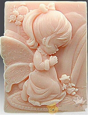 Angel Little Girl Silicone Cake Mould Fondant Sugar Soap Chocolate Decorate Tool