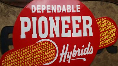 Dependable Pioneer Hybrids Corn Porcelain Metal Sign Vintage Farm Seed Cow Pig