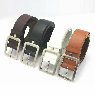 Luxury Men's Leather Dress Belt Casual Pin Buckle Waist Strap Belts Waistband
