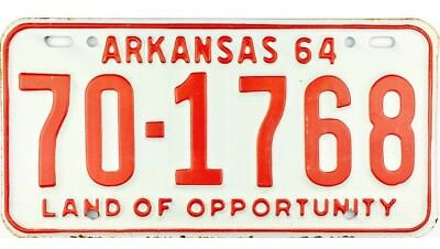NOS 1964 Arkansas License Plate Stone County #1768