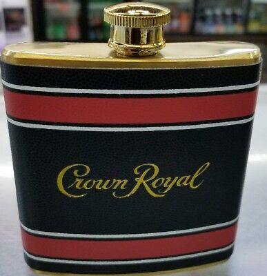 1 NEW Crown Royal Stainless Steel 6 Fluid Ounce Flask, red & blue EDITION Texans