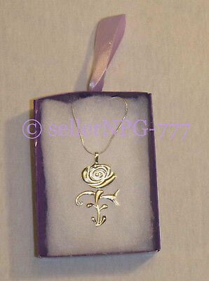 Boxed Prince Symbol Rose Get Wild Flower Necklace