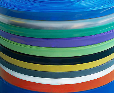 1M PVC Plastic Heat Shrink Tube F/W:75mm D:48mm Battery Capacitor Cable Film