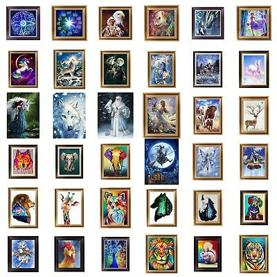 5D Diamond DIY Painting Embroidery Animals Flower Cross Crafts Stitch Kit Decors