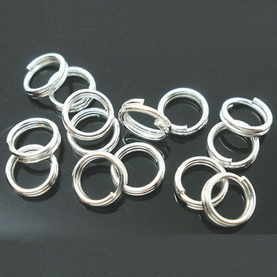 Wholesale Metal Double Loop Split Open Jump Rings Connector DIY 4/6/8/10/12/14MM