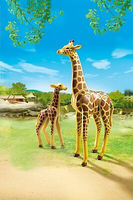 Wild Animal Giraffe Toy Figures Mother And Child PLAYMOBIL Zoo Collection Set