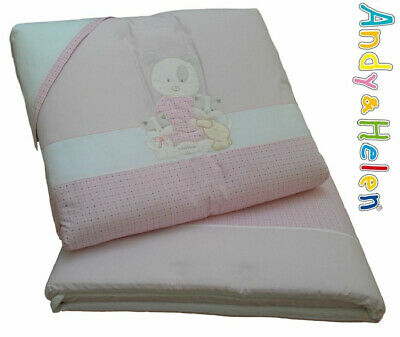 Quilt Crib Piumotto extractable Embroidered,Cot bumpers,pillowcase. ANDY&HELEN
