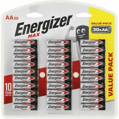 Energizer AA Max Batteries 30 Pack