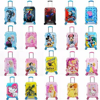 "Disney Kids 20"" Luggage Suitcase Cabin Trolley Travel Universal Wheel Shell Hard"