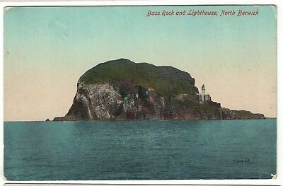 Postcard Bass Rock and Light House North Berwick
