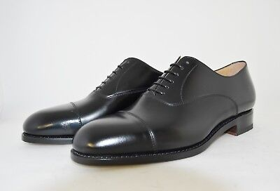 MAN-8eu-9us-CAPTOE DERBY-BLACK CALF-VITELLO NERO-LEATHER SOLE -SUOLA CUOIO