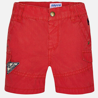 Mayoral Infant Boys Summer Bermuda  short in Cherry (1294) aged 18-36 months