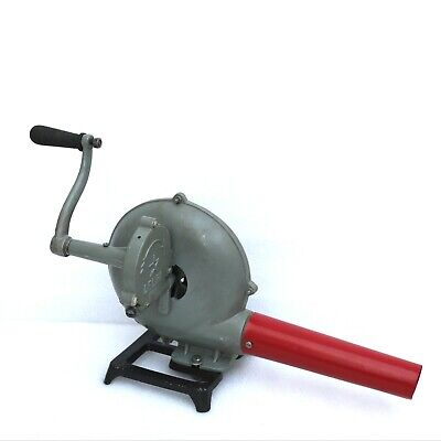 Vintage Style Forge Furnace With Hand Blower Pedal Type Handle Blacksmith Tool
