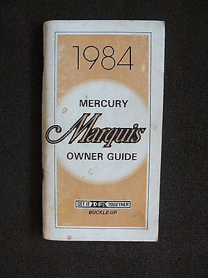 Ford USA 1984 Mercury Marquis - US-Betriebsanleitung / Owner Guide 08.1983