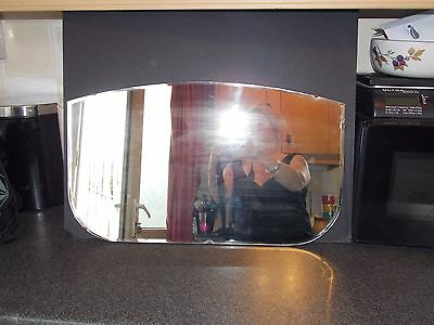 Vintage Mirror frameless fine diamond cut bevel glass  1920s 56x34cm