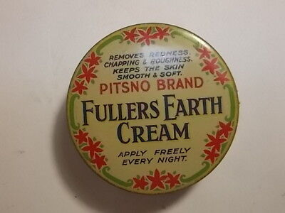 Old Chemist Fullers Earth Cream Ointment Tin. VG