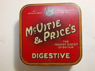 Old McVitie & Price Small Sample Size Biscuit Tin. VG