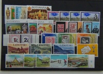 Botswana 1969 Scouts Silver Jubilee Lesotho 1970 Tourism 1979 Rowland Hill MNH