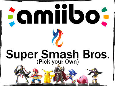 Super Smash Brothers Series Amiibo Lot pick your own Nintendo Wii u 3ds Switch