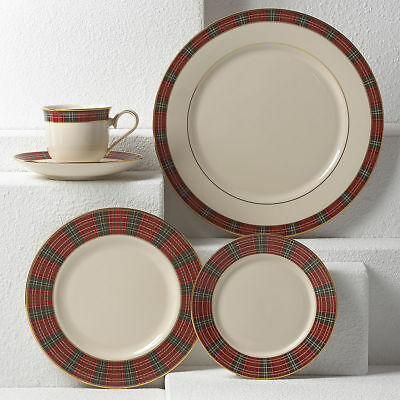 Winter Greetings Plaid 5-piece Place Setting by Lenox - Set of 4