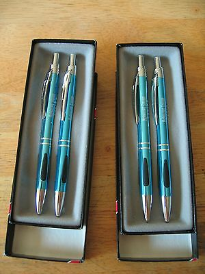 2 Boxed Sets McPhillips Station Casino Pen & Pencil Sets Promotional Gift - New